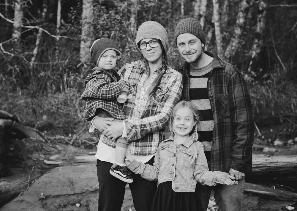 Megan Pischke and her family; Photo by Rebecca Amber Photography