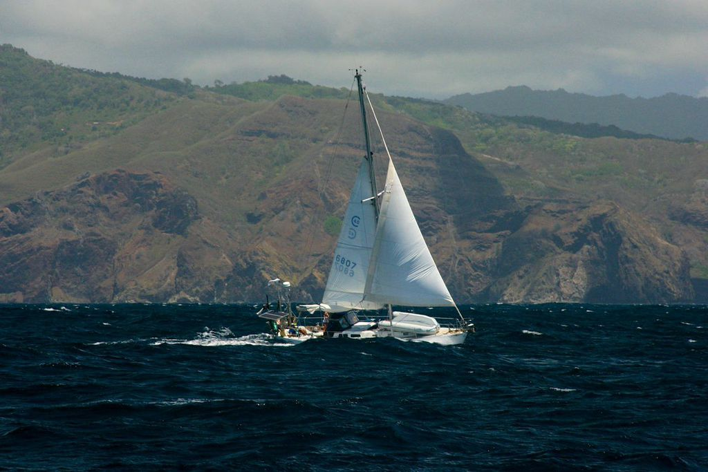 Clark's vessel is a 40-foot sailboat called Swell. Photo courtesy of Clark