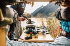 """Car camp cuisine, without the gimmicky """"hacks."""" Photo: Courtesy Fresh Off The Grid"""
